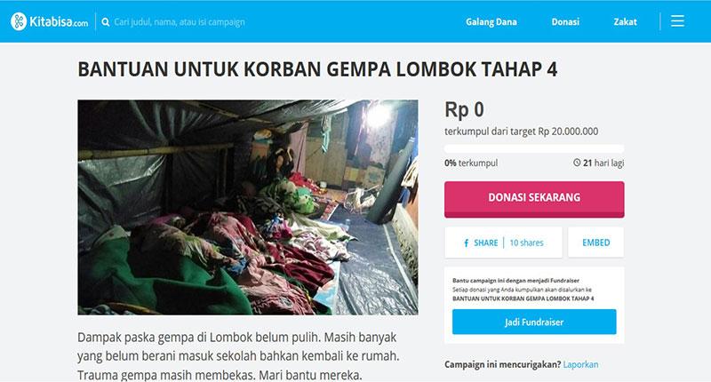 Donasi Gempa Lombok Tahap 3 & 4